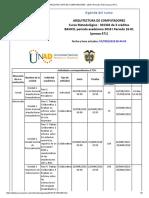 Agenda - ARQUITECTURA DE COMPUTADORES - 2018 I Periodo 16-01 (peraca 471)