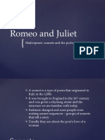 SONNETS Romeo and Juliet sonnets and prologue