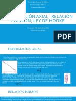 Deformación axial, relación poisson, ley de hooke