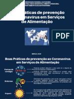 Boas Práticas de prevenção ao Coronavírus em Serviços de Alimentação