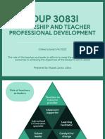 Role of teacher as leaders