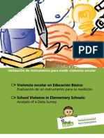 Validación Instrumento medición violencia escolar