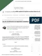 2001 Ley de Coordinación de Seguridad Ciudadana -transcripcion