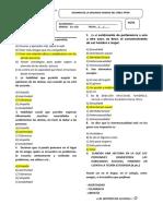 EXÁMEN SEGUNDA  UNIDAD DE PFRH - 1ER Y 2DO AÑO