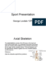 Sport Presentation of Bones and Joints and Muscle Types