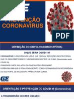 Campanha CORONAVÍRUS na empresa G&E