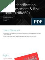 Chapter 4_Hazard Identification, Risk Assessment  Risk Control (HIRARC)