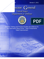 DoD Inspector General Report on Body Army Testing