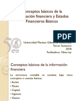 Conceptos básicos de la información financiera y Estados