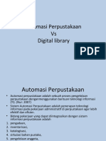 Automasi Perpustakaan Vs Digital Library