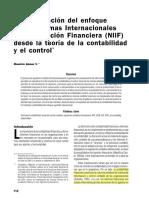 181025 Una evaluacion del enfoque de las NIIF desde la teoria de la contabilidad y el control M Gomez