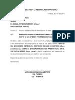 carta de levantamiento de observaciones