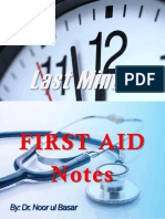 Last Minute First Aid Notes by Dr Noor ul Basar