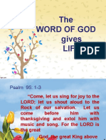BB 2-WORD OF GOD Gives Life