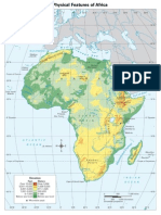 Physical Map Africa