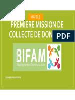 MISSION MAFIBLE1- CARACTÉRISTIQUES SOCIO DÉMOGRAPHIQUES