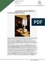 La scomparsa del professor Paolo Fabbri nelle parole del sindaco Gnassi - Buongiornorimini.it, 3 giugno 2020