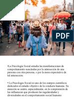 PPt. psicología social. Introducción