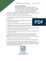 MANTENIMIENTO Y REDES DE CÓMPUTO CUIDADOS DE LA VISTA AL USAR EL ORDENADOR