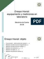 Laboratorio -  Ensayo triaxial