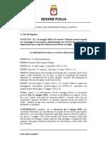 Ordinanza 245 Regione Puglia