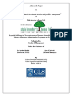 Role of risk and return in investment selection and portfolio management