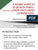REGULATORY ASPECTS OF QUM IN INDIA