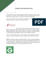 EJEMPLOS DE SERVIDOR WEB, HOSTING Y DOMINIO WEB