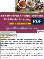 Turmeric Powder Coriander Powder and Chilli Powder Processing Industry