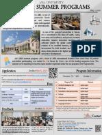 Brochure of Asia Univ. 2020 Online Summer Programs (0511)