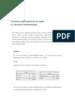 Acciones y participaciones de capital