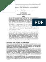 Blogs @ Anywhere- High Fidelity Online Communication