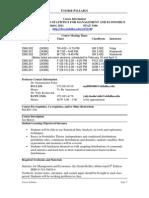 UT Dallas Syllabus for stat3360.502.11s taught by Yuly Koshevnik (yxk055000)