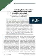Preschool Irritability - Longitudinal Associations