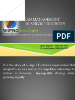 Wipro Lean Implementation