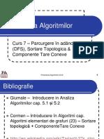 Curs 7 - DFS  Sortare Topologica  CTC
