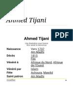 Ahmed Tijani — Wikipédia