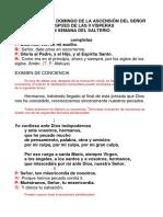 DOMINGO Ascensión DESP. II VISP., COMPLETAS