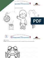 hojas de aplicacion - 3 años (Matematica y personal social )