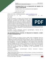 3. El Estatuto Epistemologico de La Pedagogia en Debate
