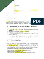 Petición de pago a empleador (Sin liquidación anexa)