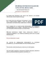 LAS TRANSFORMACIONES SOCIALES DE ESPAÑA EN EL SIGLO XIX