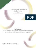 PPT Intro Doctrina de Las Escrituras I