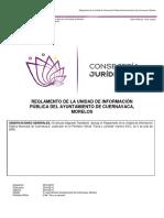 Reglamento de la Unidad de Informacion Publica del Ayuntamiento de Cuernavaca
