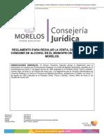 Reglamento para regular la venta y distribución de alcohol en el Municipio de Cuernavaca