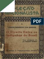 O direito entre os indígenas do Brasil_Carlos Frederico von Martius
