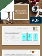 PRINCIPIO DE ARQUIMEDES Y PASCAL