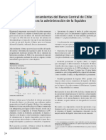 Herramientas del Banco Central de Chile para la administración de la liquidez