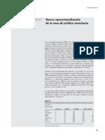 Nueva operacionalización de la tasa de política monetaria