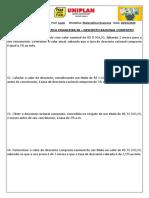 ATIVIDADE 06 MATEMÁTICA FINANCEIRA